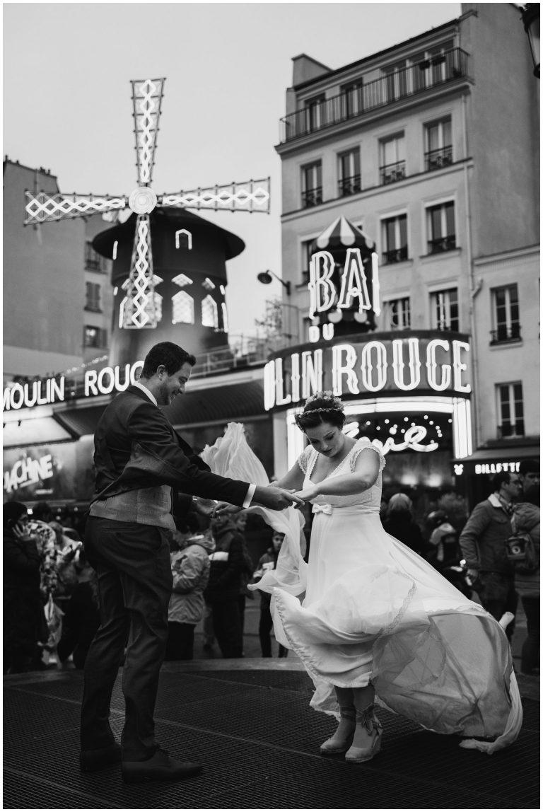reportaje post-boda en paris mouling rouge